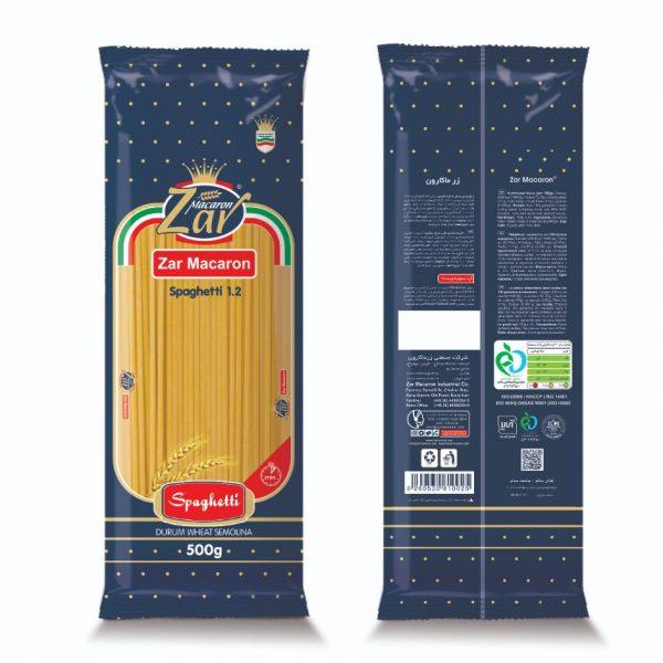 ماکارونی قطر 1.2 زرماکارون 500 گرم