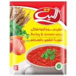 الیت-سوپ جو و گوجه فرنگی