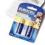 EUROCELL-باتری نیم قلم 2 عددی