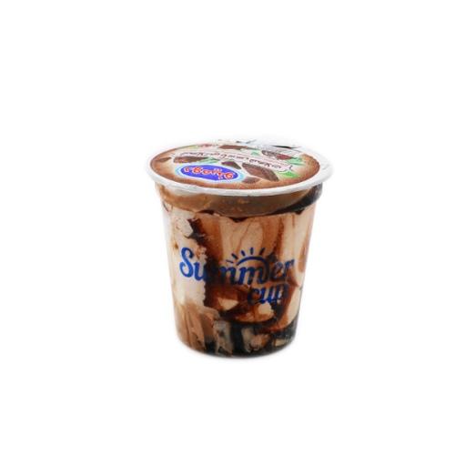 بستنی شکلاتی با سس شکلات لیوانی دومینو